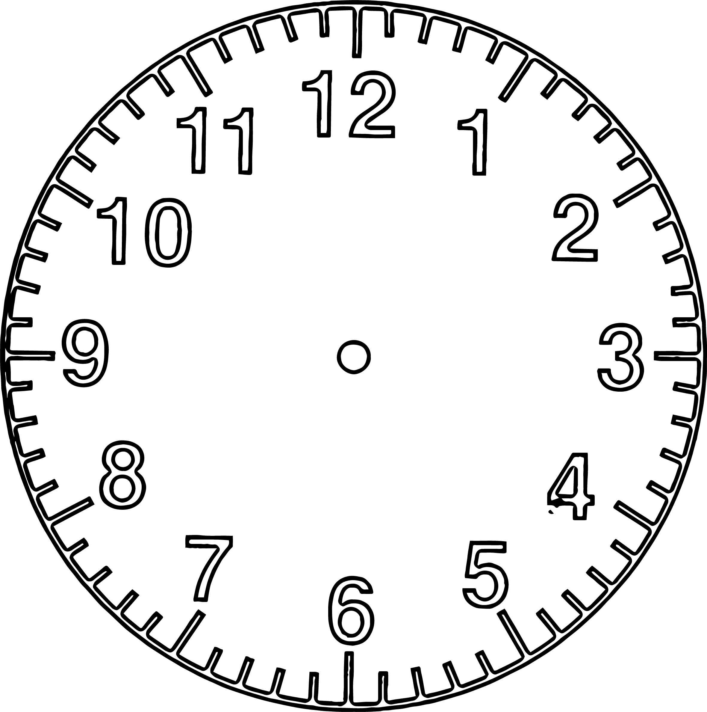 Empty Middle Clock Coloring Page