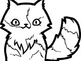 End Cat Coloring Page
