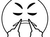 Face With Look Of Triumph Emoji Classic Round Emoticon Creator Hates Emojis Coloring Page