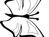 Flying Butterfly Clipart Coloring Page