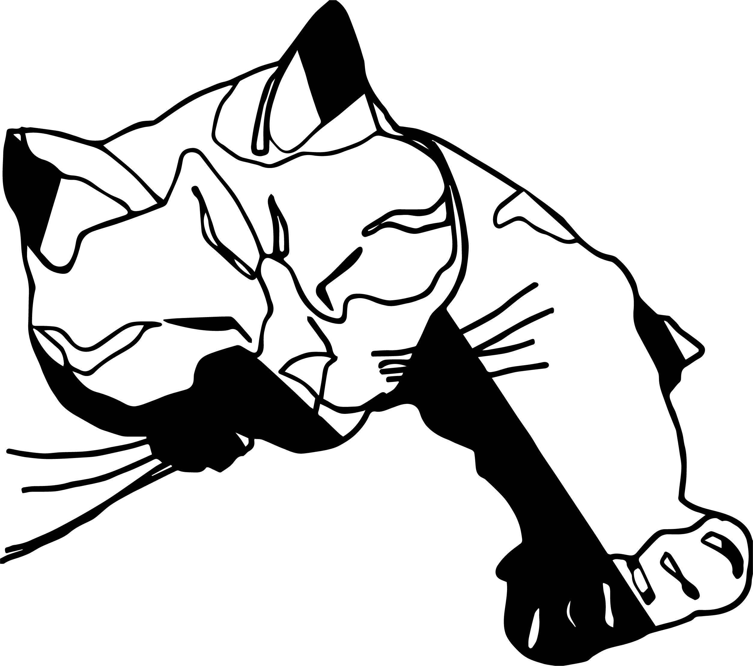 Food Cat Coloring Page