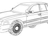 Ford Crown Victoria Fire Chief's Car Coloring Page