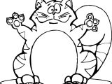 Four Cat Coloring Page