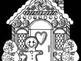 Free Gingerbread House Amazing Gingerbread House Coloring Pagebackground Black
