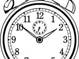 Free Old Clock Alarm Coloring Page