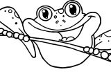 Frog On Tree Coloring Page