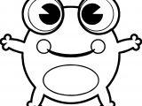 Frog Preschool Coloring Page