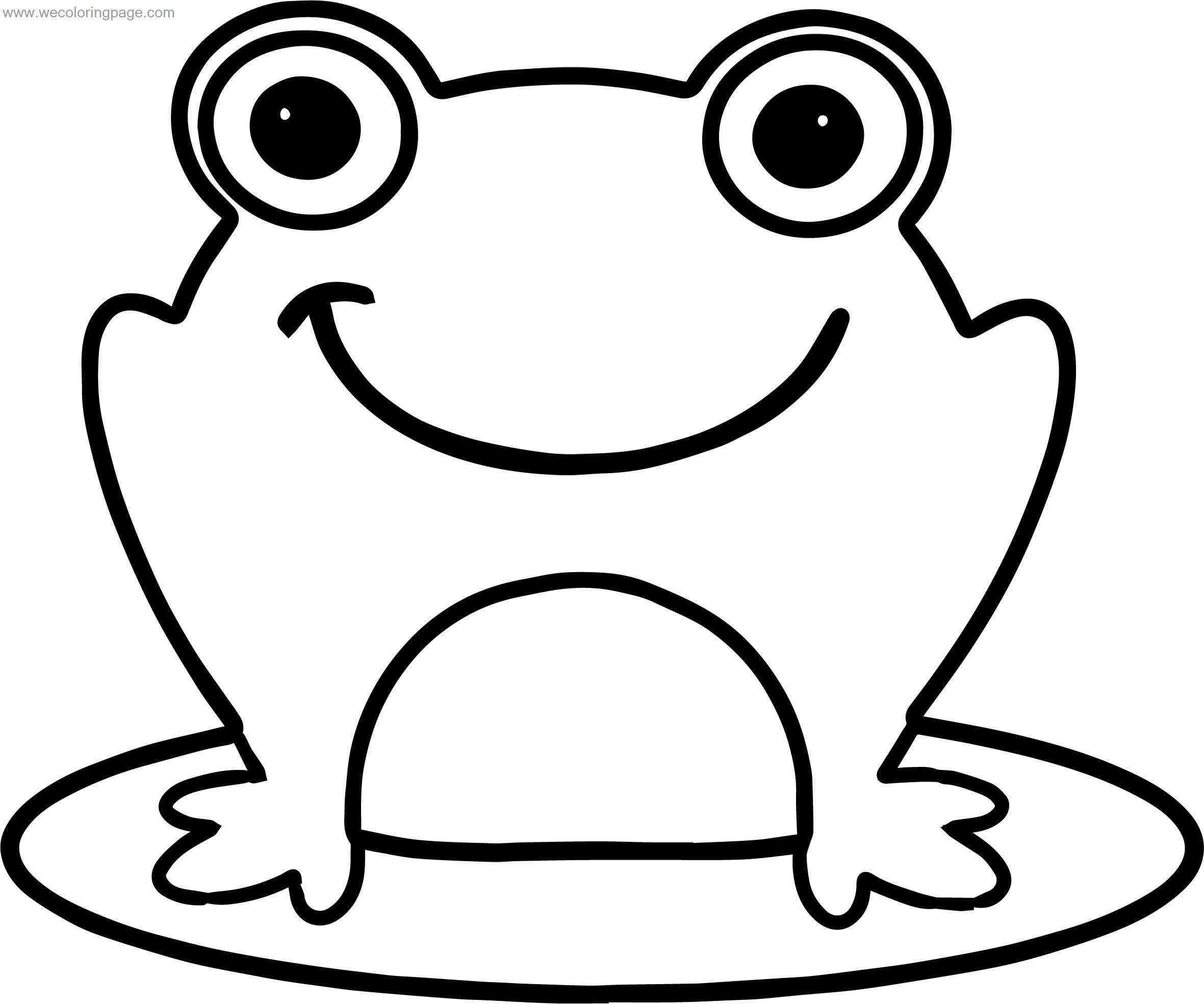 bold line coloring pages | Frog Smile Bold Line Coloring Page | Wecoloringpage.com