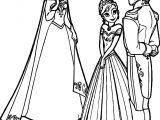 Frozen Elsa Anna Hans Coloring Page