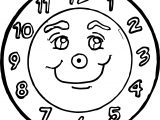 Funny Clock Face Coloring Page