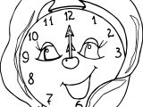 Funny Clock Free Coloring Page