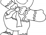 Gingerbread Big Cookie Man Coloring Page