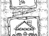 Gingerbread From Our Home To Yours With Love Coloring Page