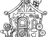 Gingerbread Front View Coloring Page