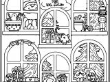 Gingerbread Home Gift Windows Coloring Page