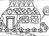 Gingerbread House Bear Candy Coloring Page