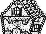 Gingerbread House Bold Line House Coloring Page