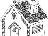Gingerbread House Gingerbread House Coloring Page