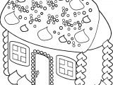 Gingerbread House Lg Gingerbread House Coloring Page