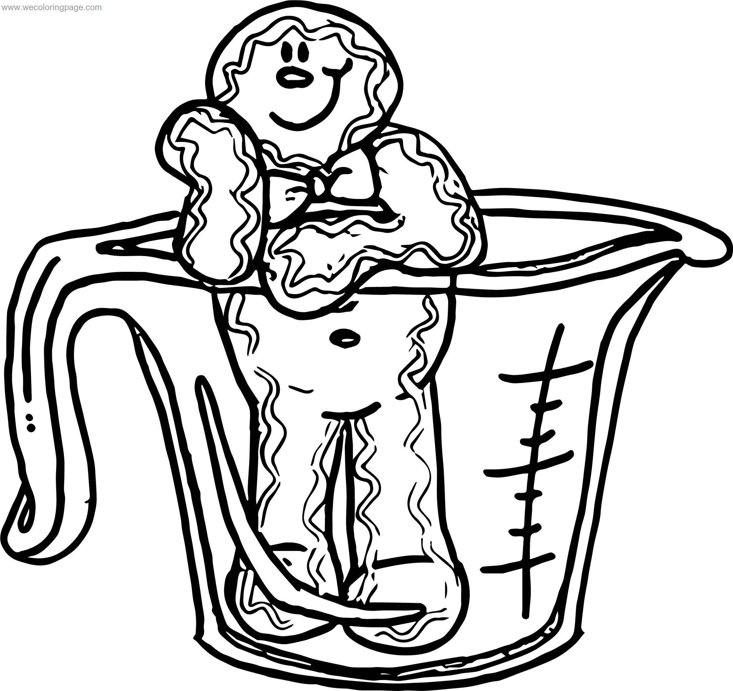 Gingerbread Man December Free Images Gingerbread House Coloring Page