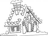 Gingerbread My Home Coloring Page
