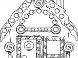 Gingerbread New Home Coloring Page