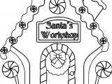 Gingerbread Santa Workshop Coloring Page