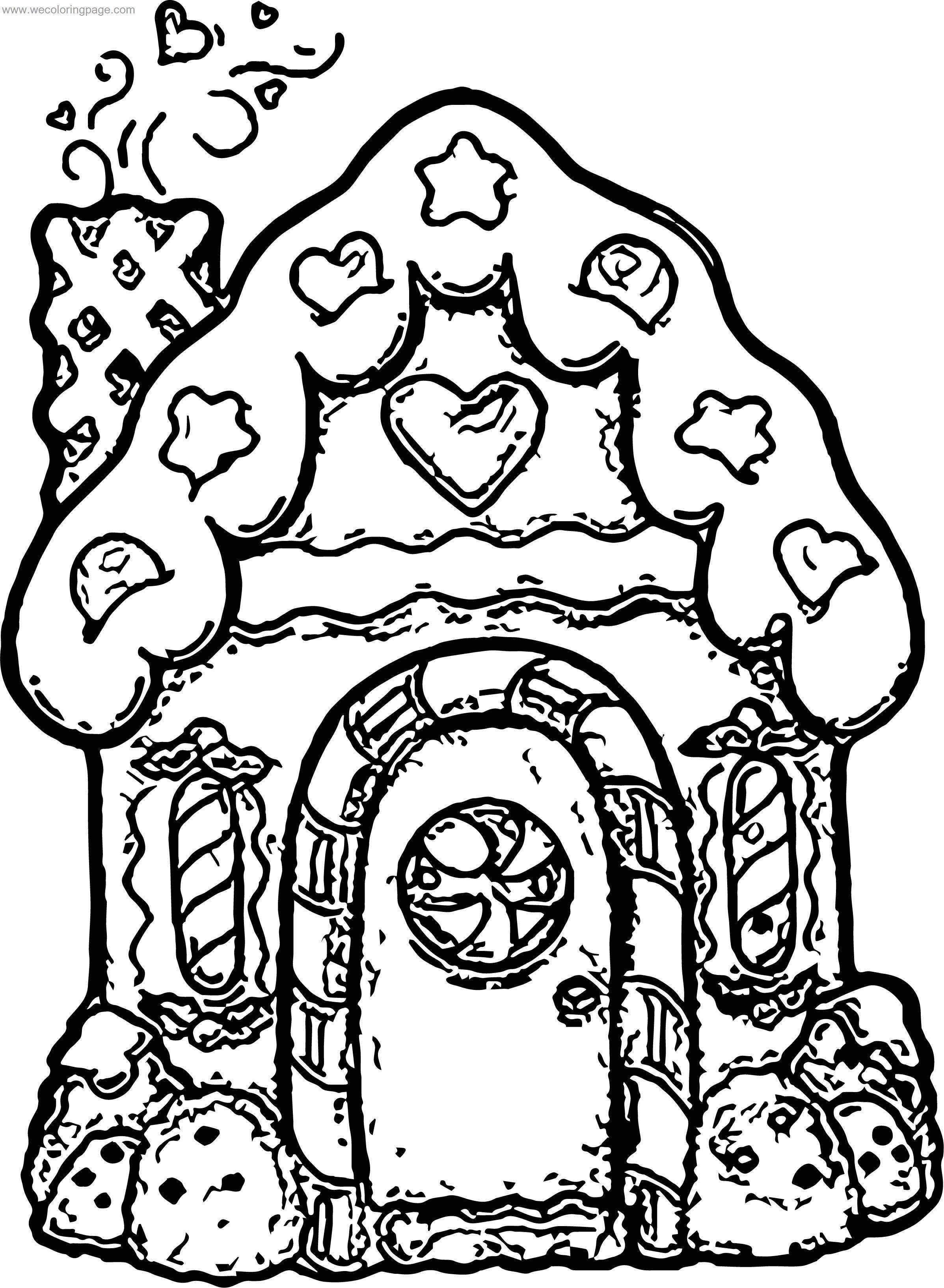 Gingerbread Sketch House Coloring Page