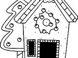 Gingerbread Smaller House Coloring Page