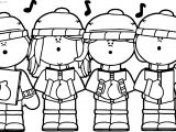 Gingerbread Song Boys Coloring Page