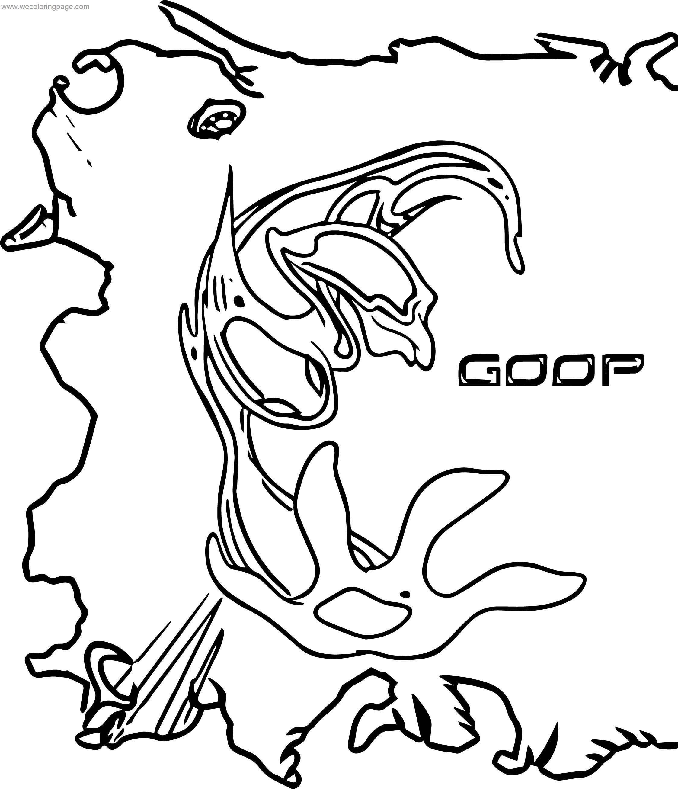 Goop Creature Benten Coloring Page