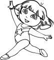 Gymnastics Dora The Explorer Coloring Page