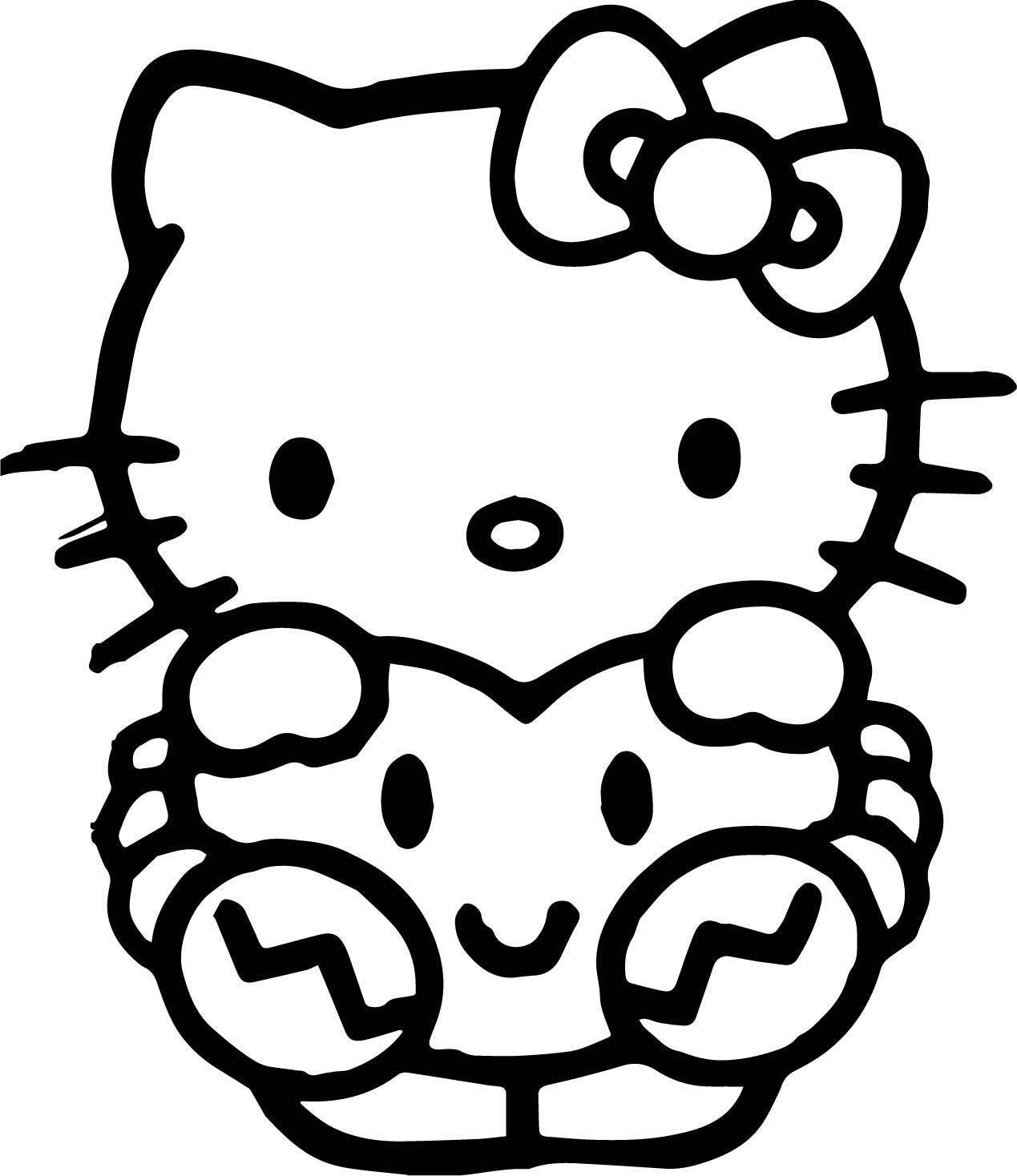 Hand Cat Coloring Page