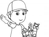 Handy Manny Toolkit Coloring Page