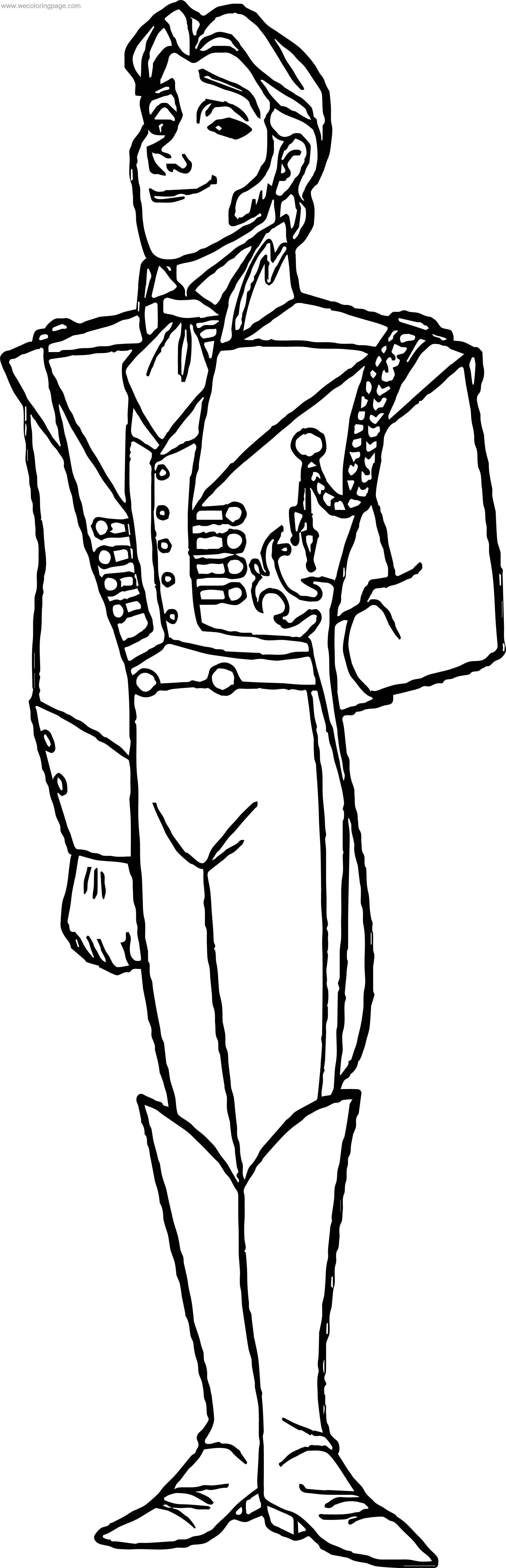 Hans Pose Coloring Page