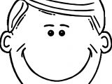 Happy Boy Smile Free Printable Face Coloring Page