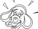 Happy Dog Face Coloring Page