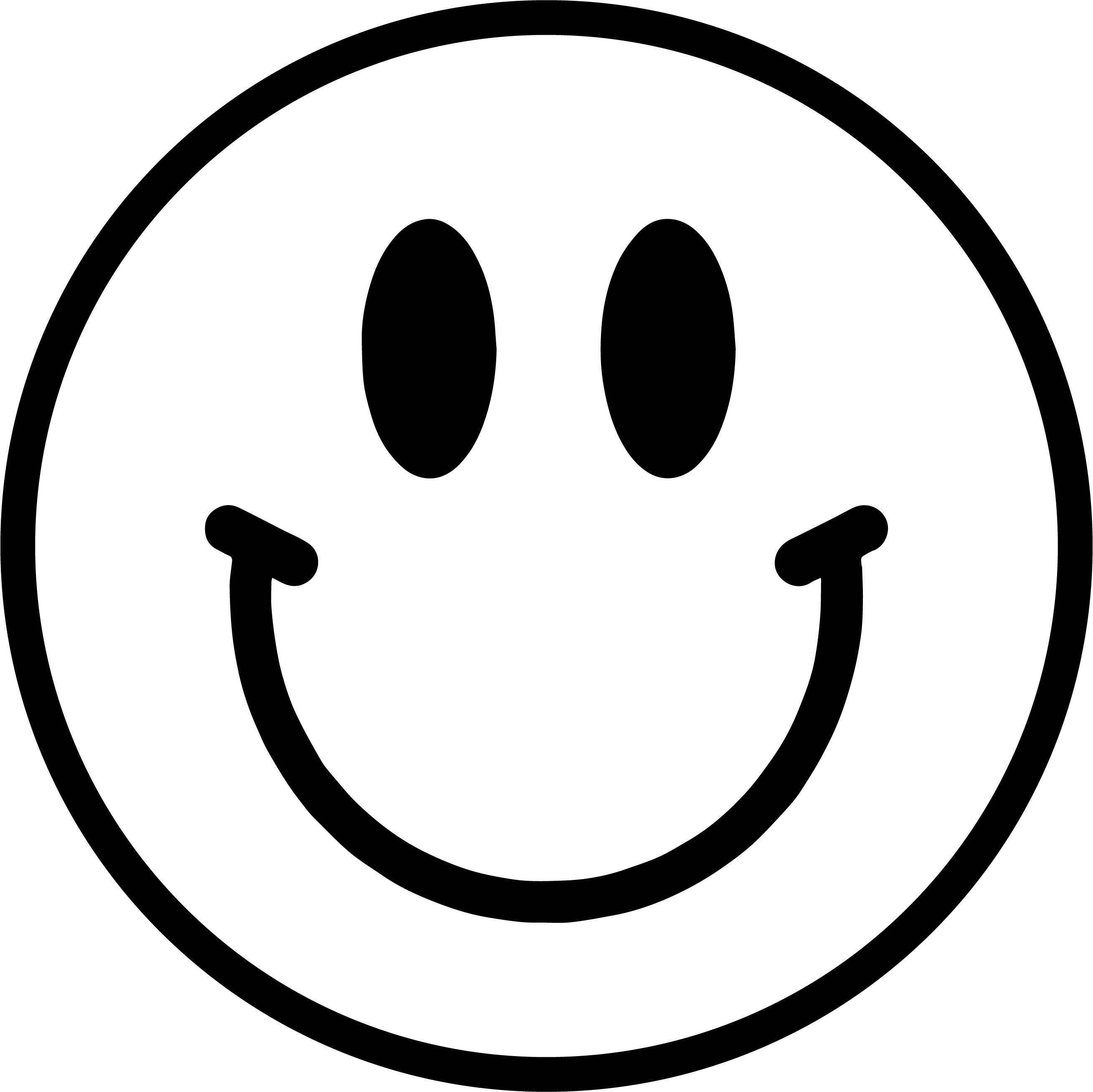 Happy Face Cute Coloring Page