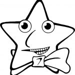 Happy Star Bow Coloring Page