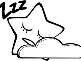 Happy Star Sleeping Coloring Page