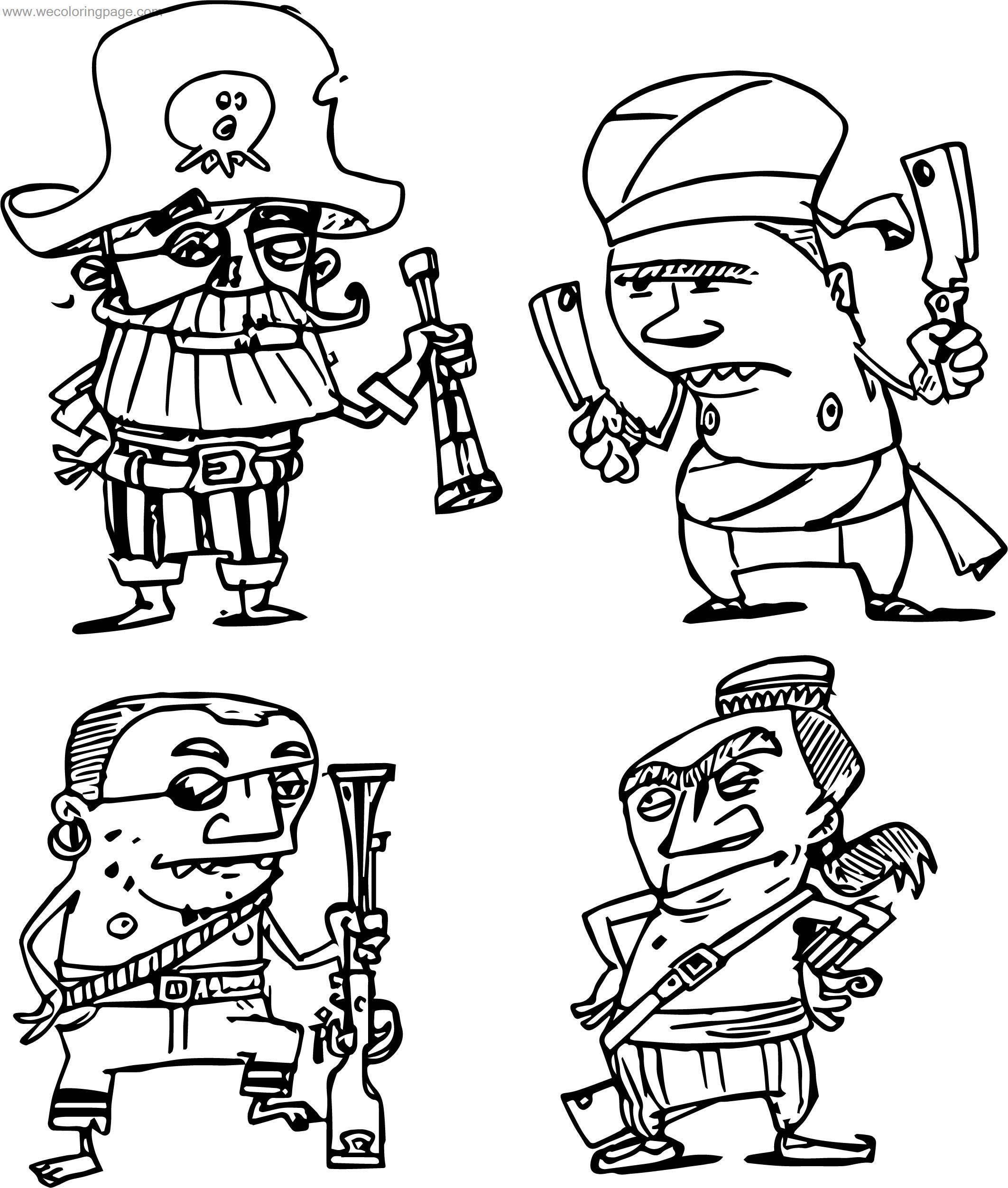 Hard Characters Coloring Page
