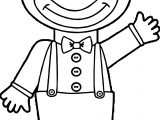 Hello Clown Kid Coloring Page