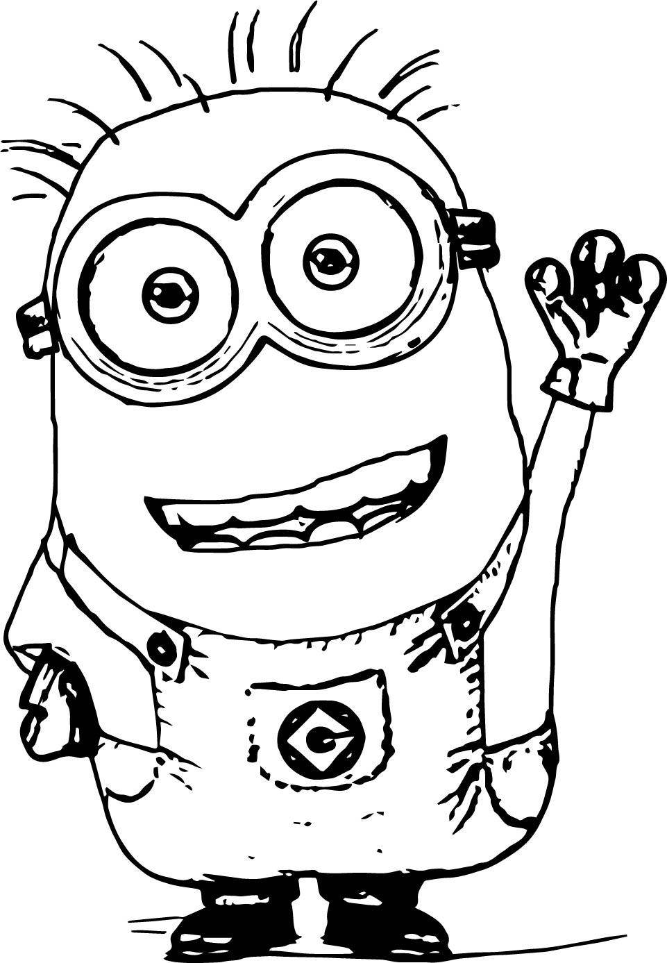 Hello Minion Minions Coloring Page