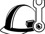 Helmet Computer Engineer Coloring Page