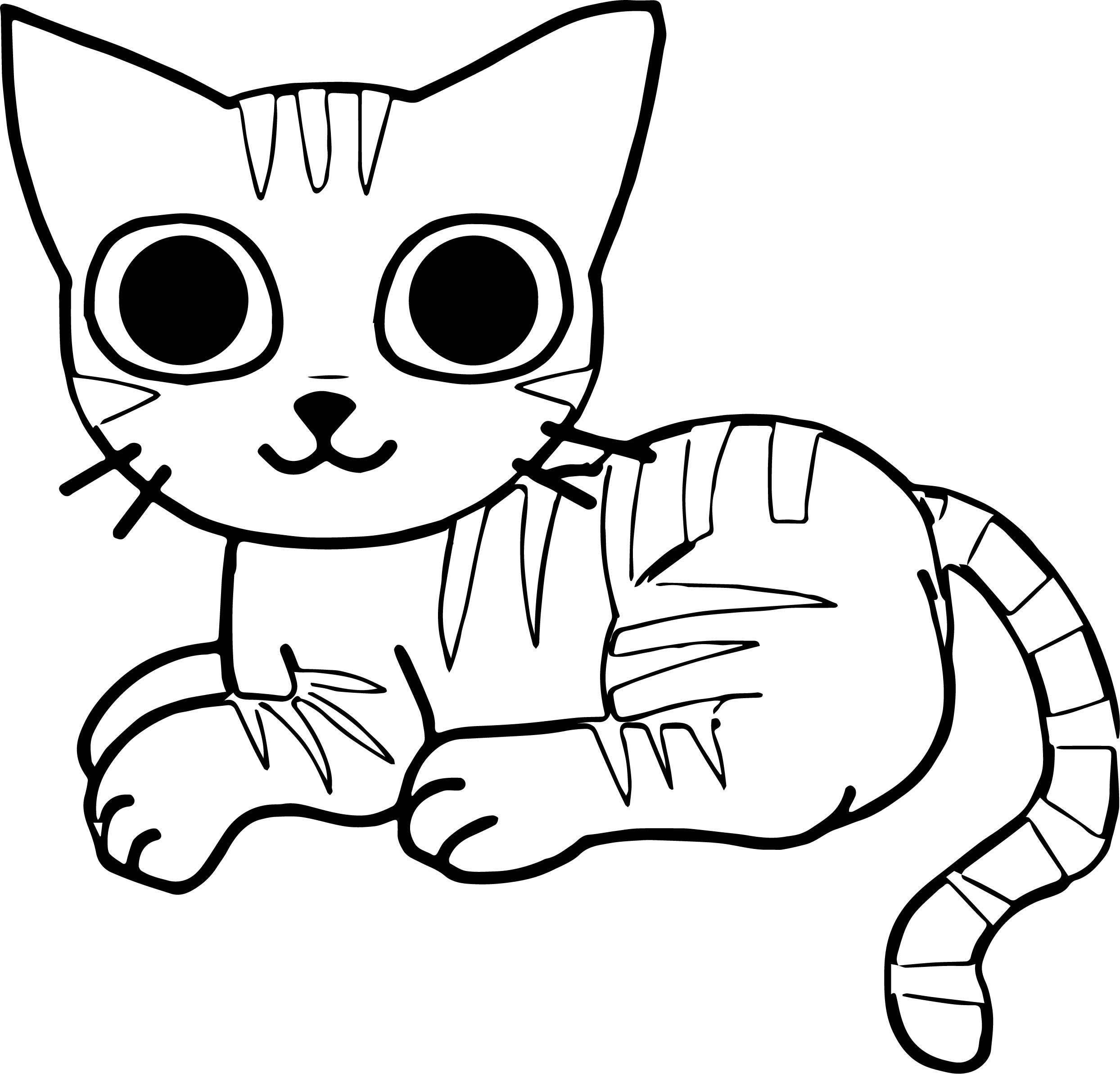 Her Cat Coloring Page