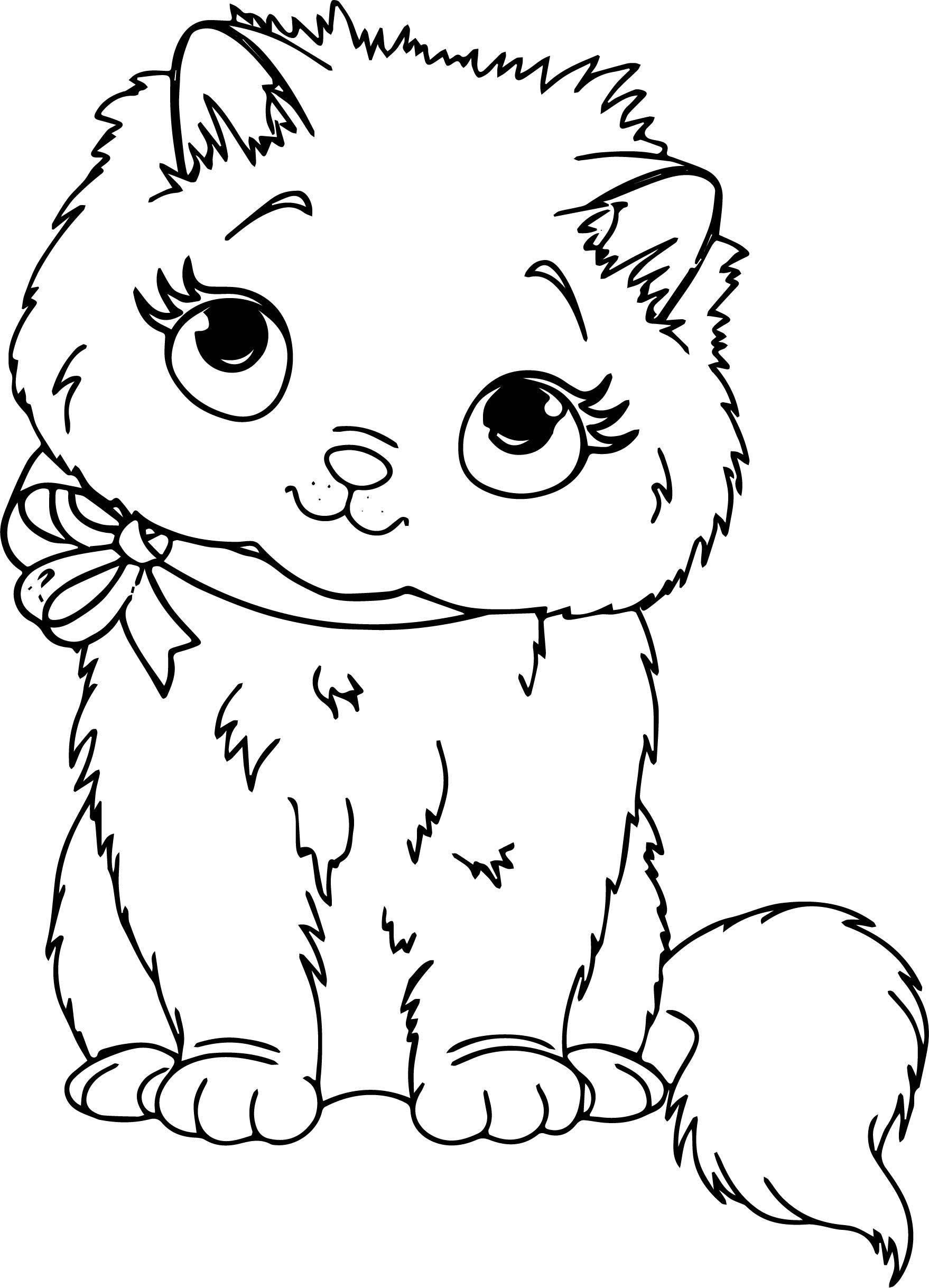 Home Cat Coloring Page