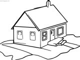 House Gingerbread House Coloring Page