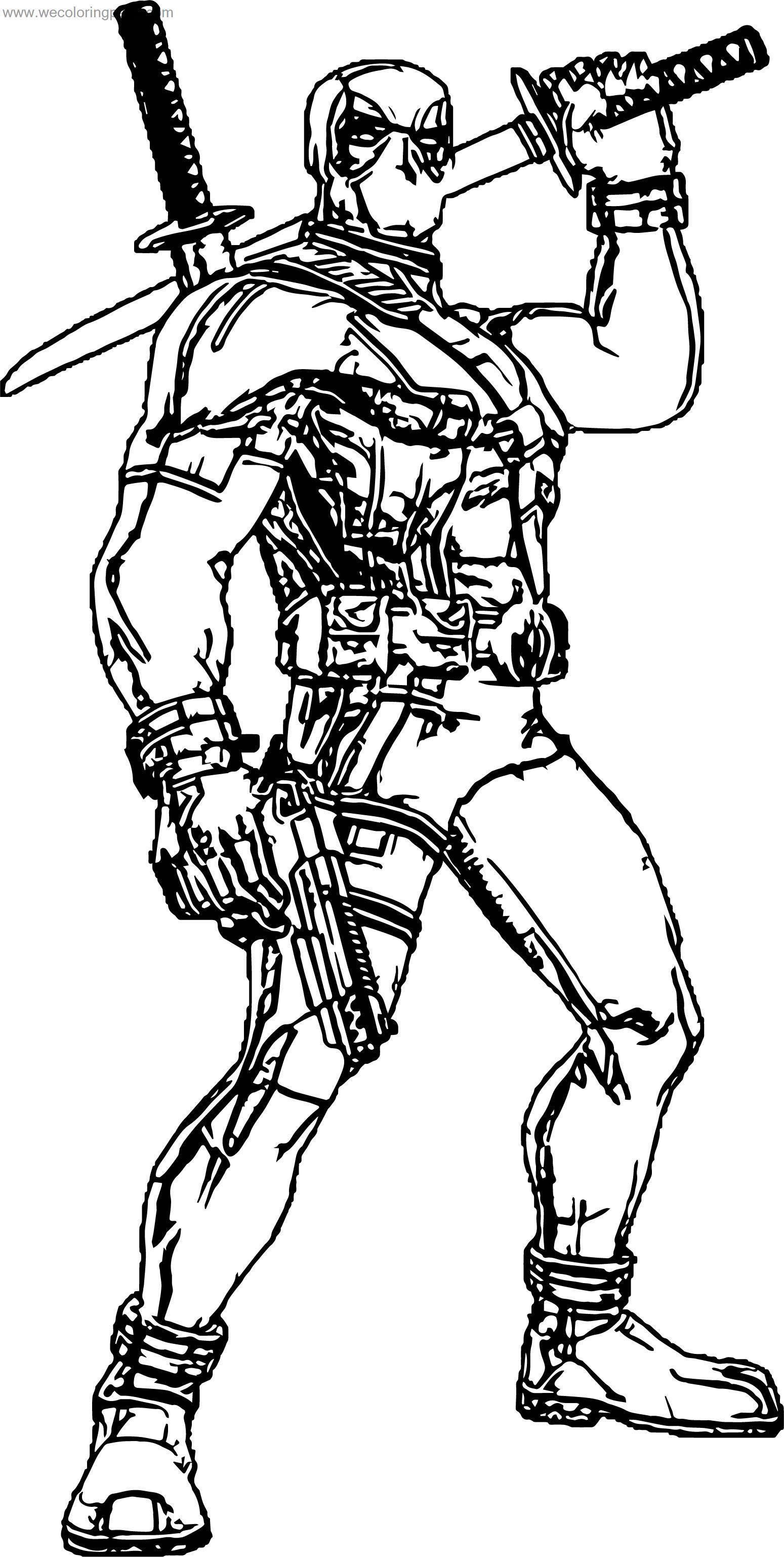 How Deadpool Coloring Page