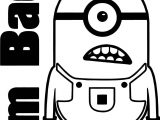 Im Bad Minion Minions Coloring Page