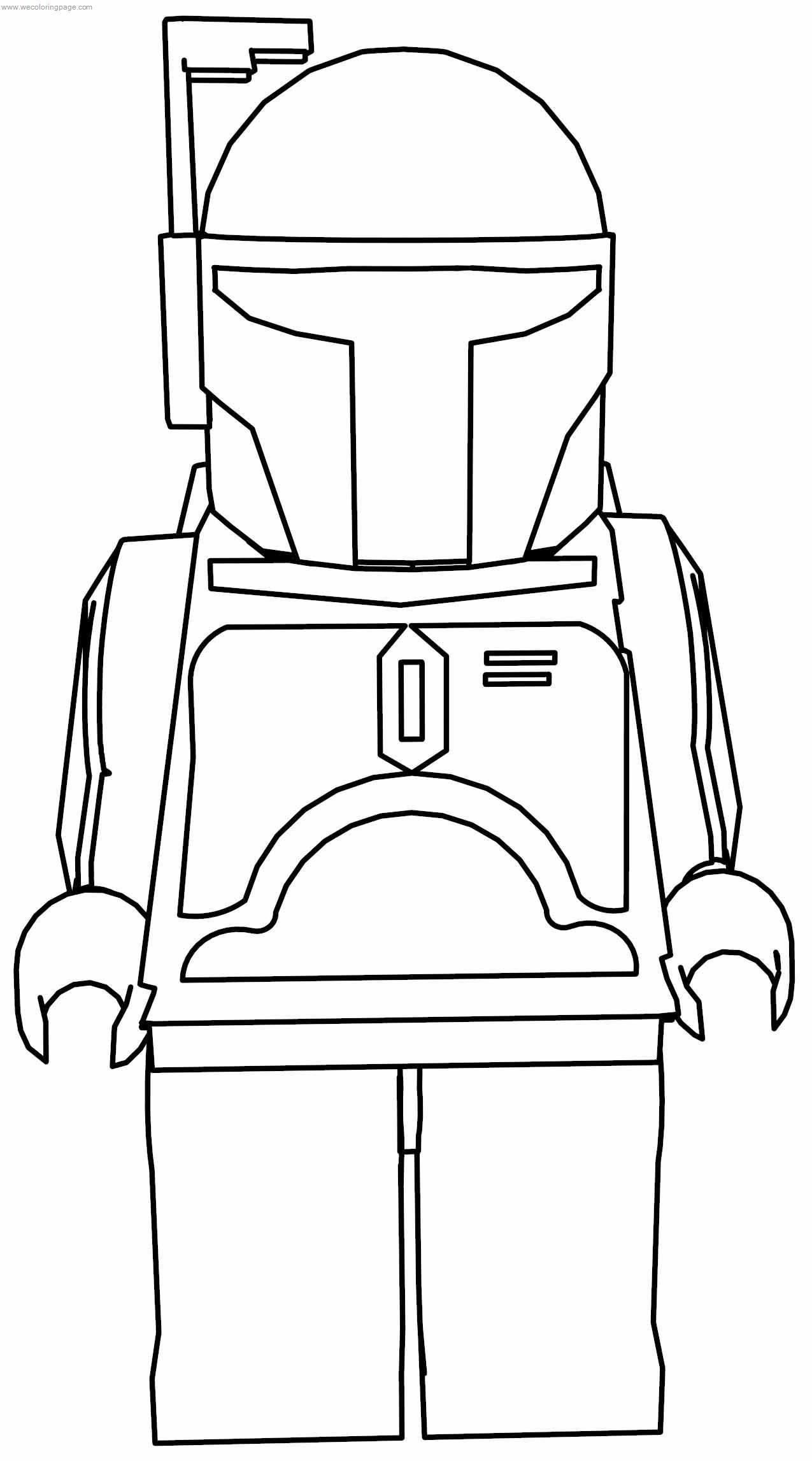 Jango Fett Star Wars Lego Coloring